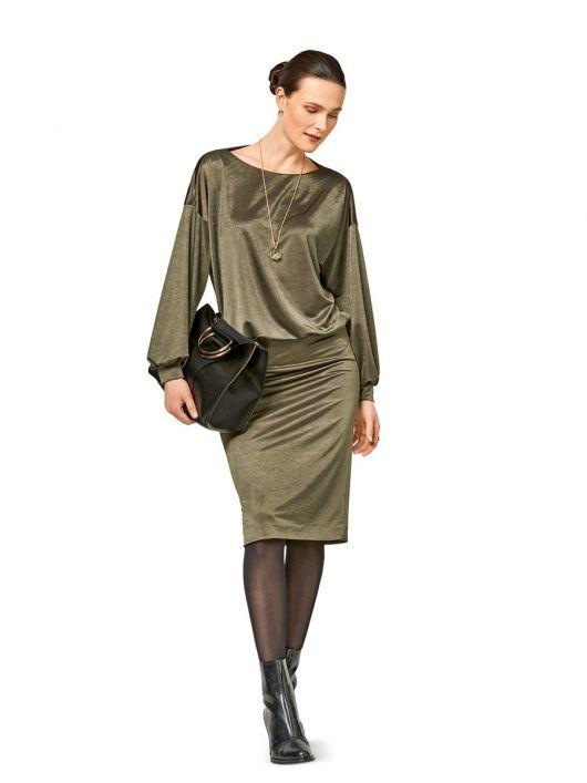 Сукня трикотажна з довгими рукавами
