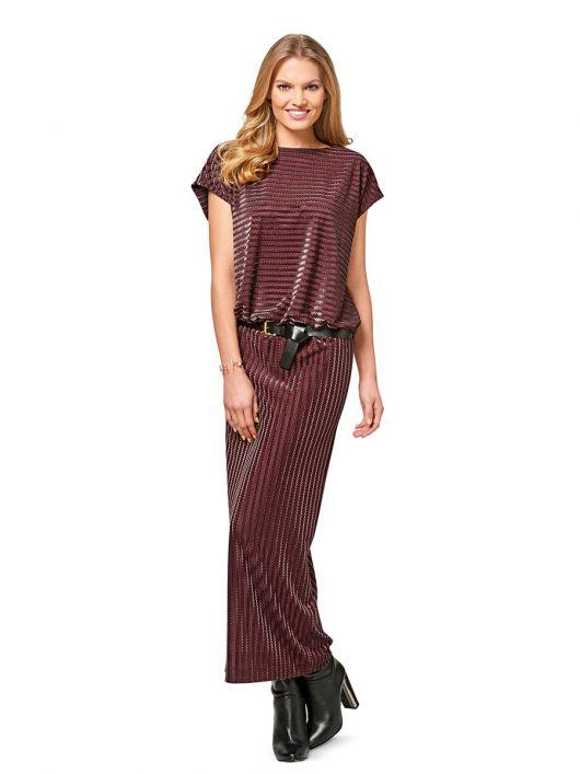Сукня довга трикотажна
