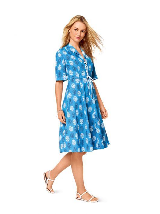 Сукня-сорочка зі шнурівкою