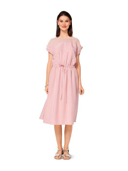 Сукня довжини міді з куліскою на талії