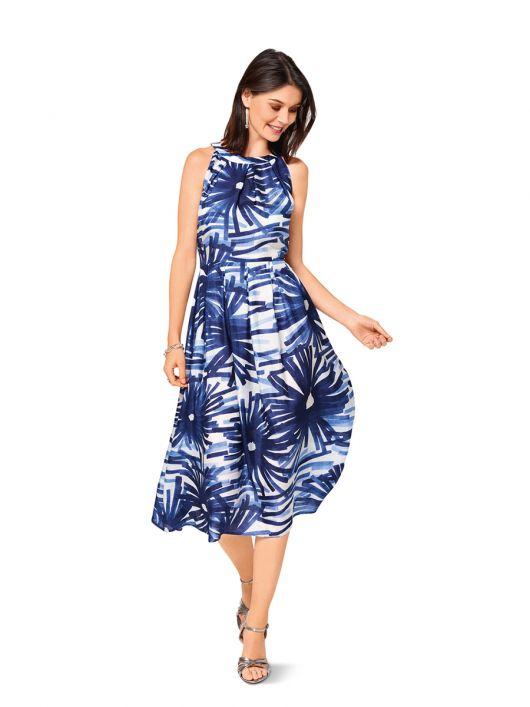 Сукня з американською проймою і спідницею в складку