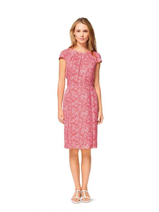 Сукня-футляр з короткими рукавами реглан