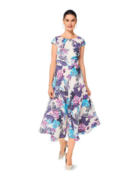 Сукня з фігурним вшивним поясом