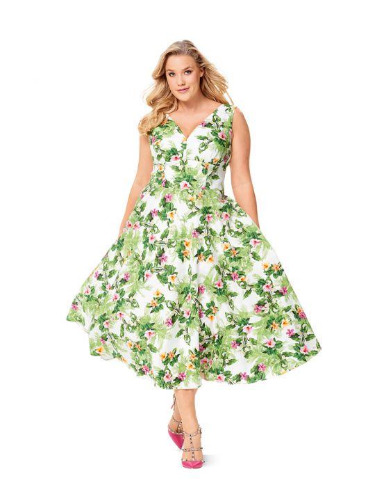Сукня з широким вшивним поясом
