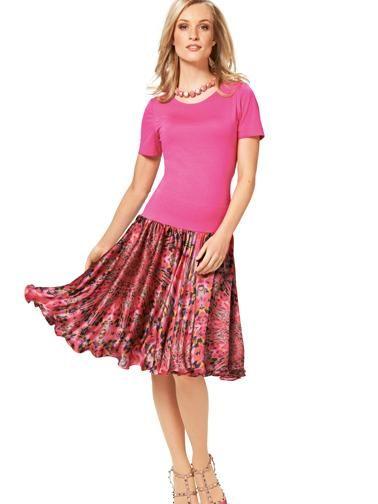 Сукня з пишною спідницею комбінована