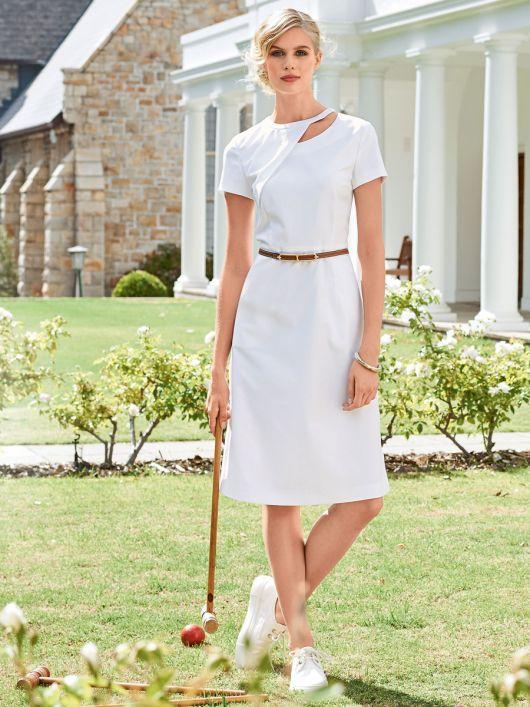 Сукня відрізна зі спідницею А-силуету