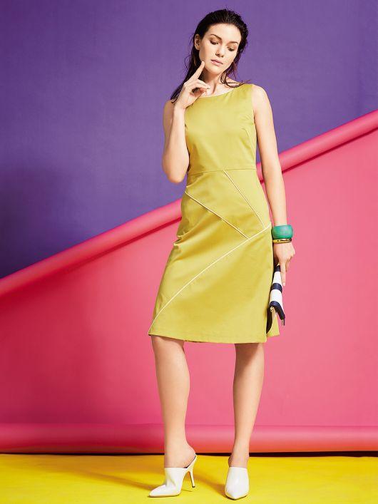 Сукня приталена зі спідницею А-силуету