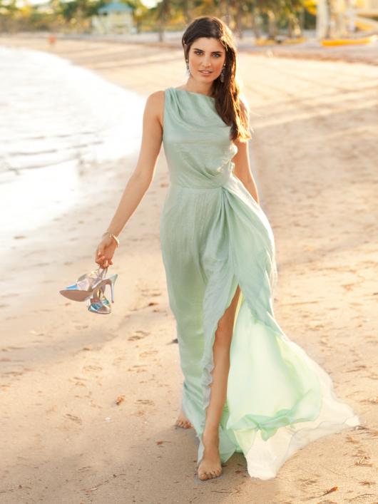 Сукня довга відрізна по талії