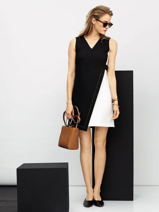 Сукня міні з контрастними деталями