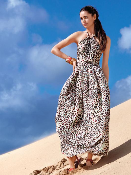 Сукня довга з бретеллю-петлею