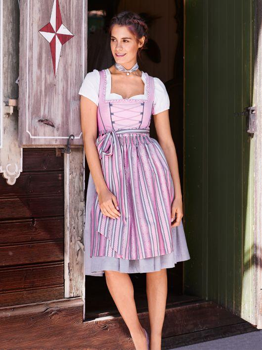 Сукня з широким вирізом горловини і фартух
