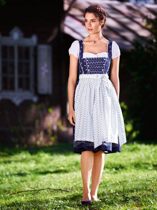 Сукня з імітацією блузки і фартух