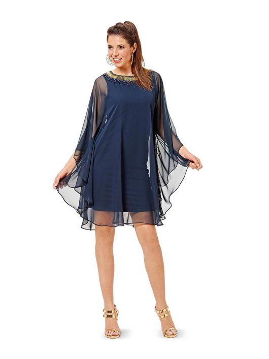 Сукня-майка з шифоновою накидкою