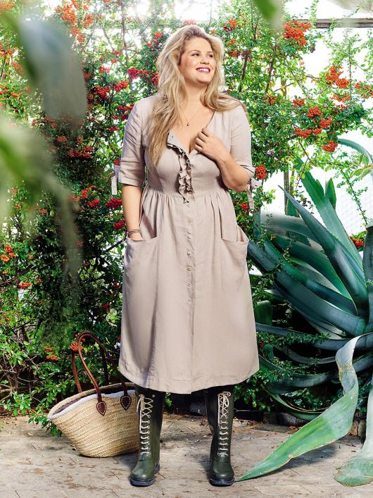 Сукня відрізна по талії з наскрізною застібкою