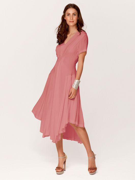 Сукня приталена з асиметричним низом