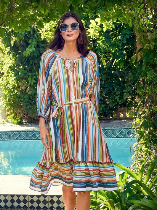 Сукня широкого крою з рукавами реглан