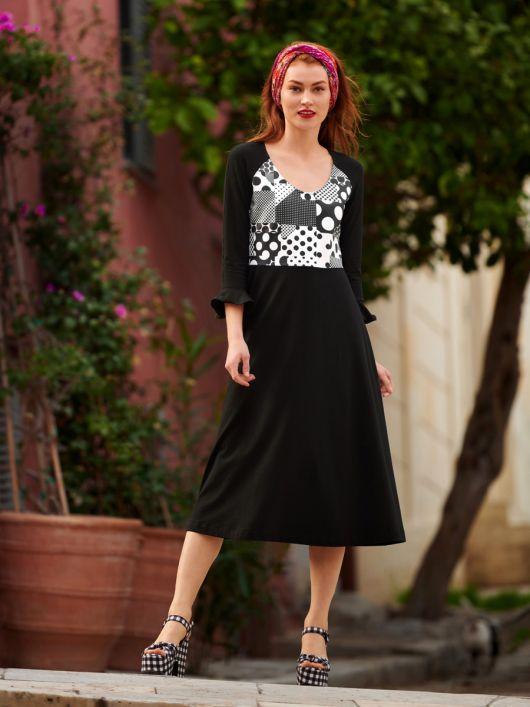 Сукня відрізна з ефектом три в одному