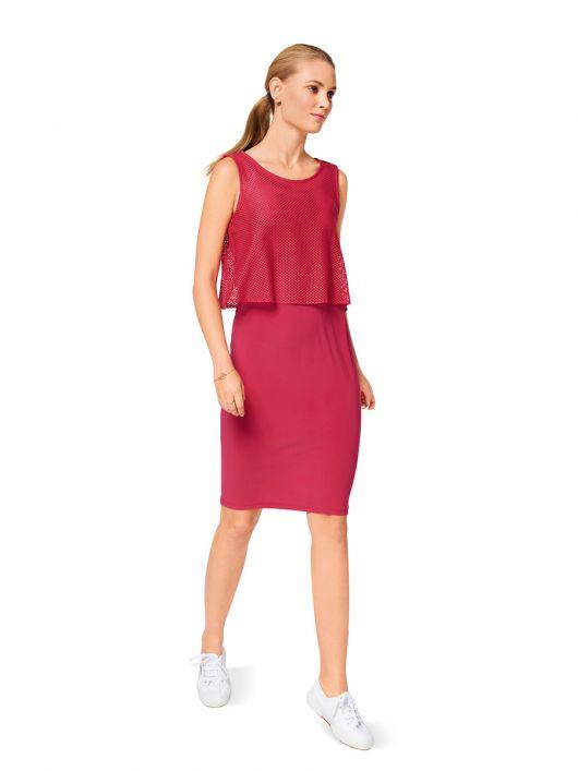 Сукня трикотажна з двошаровим верхом