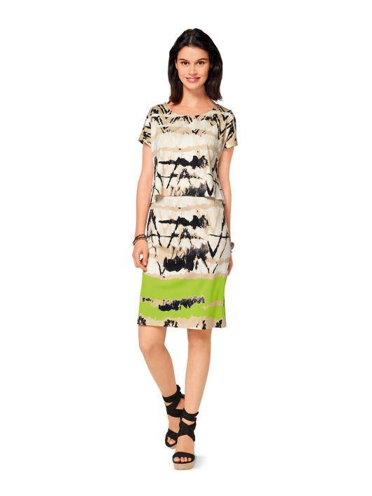 Сукня трикотажна з топом