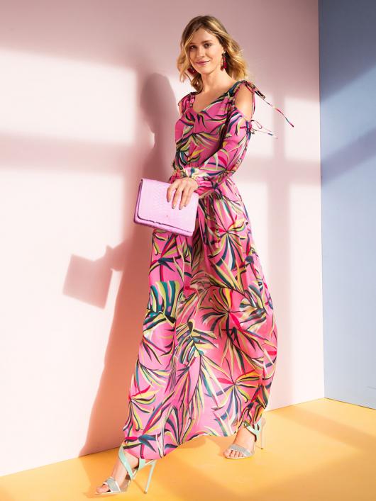 Сукня максі з відкритими плечима