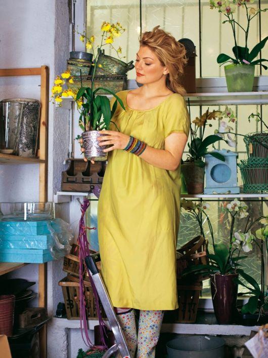 Сукня з двобічного сатину з короткими рукавами реглан