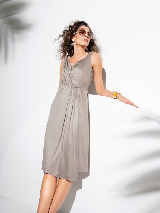 Сукня трикотажна з ефектом запаху