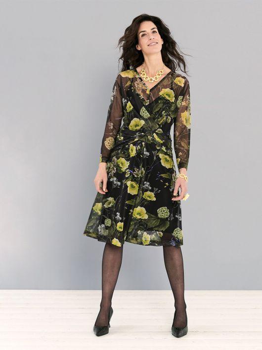 Сукня з драпіровками з ефектом запаху