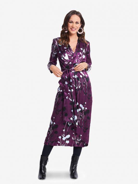 Сукня відрізна з ефектом запаху