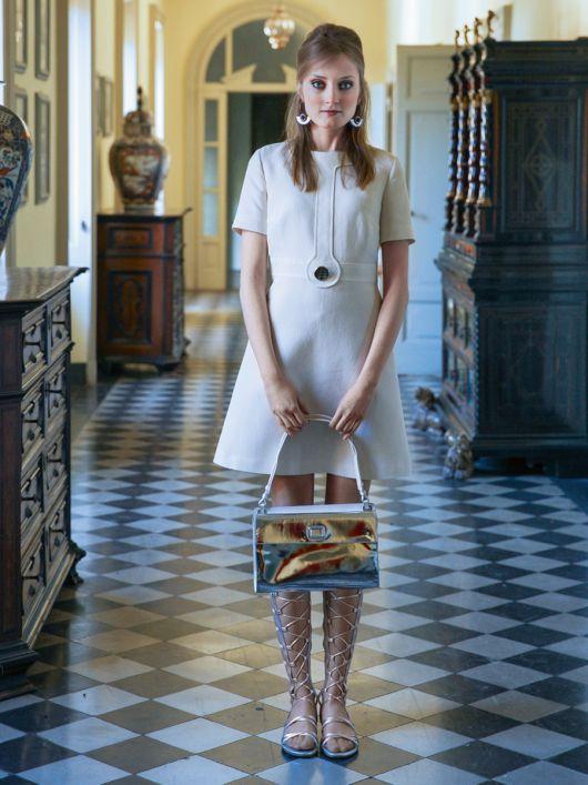 Сукня міні зі спідницею А-силуету