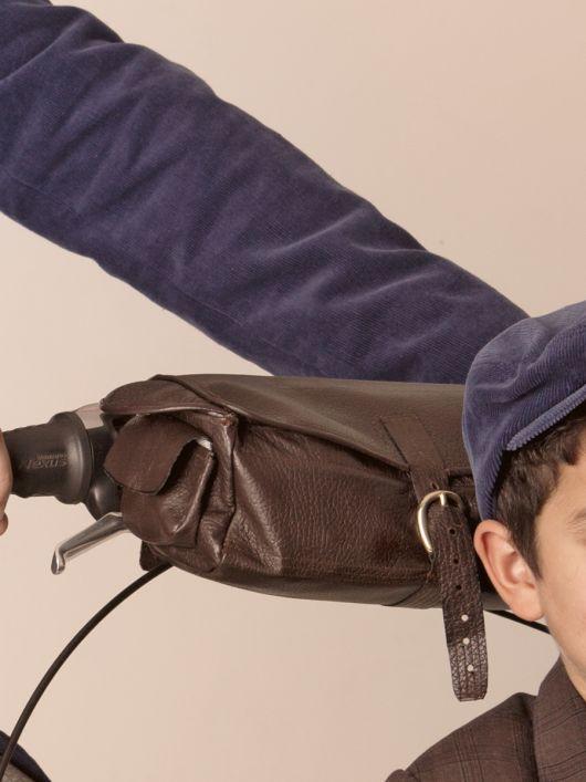 Велосумка з накладними кишенями