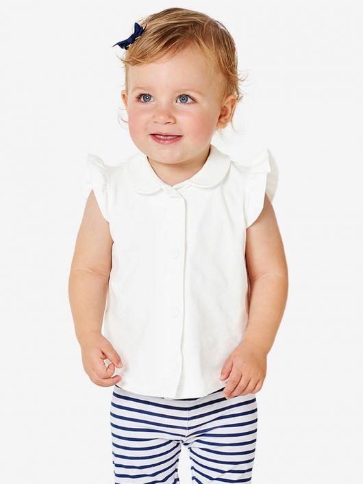 Блузка трикотажна з відкладним коміром