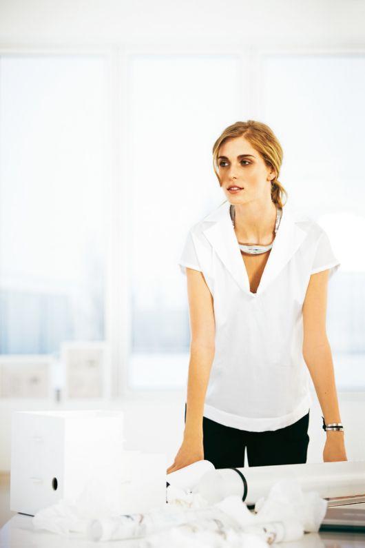 Блузка широка прямого крою