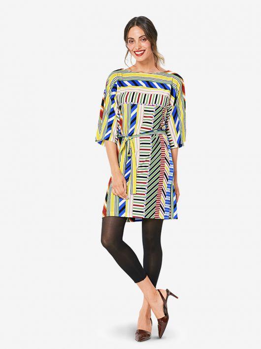 Сукня-туніка трикотажна з поясом