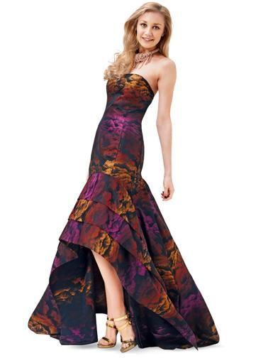 Сукня-бюстьє з довгою асиметричною спідницею