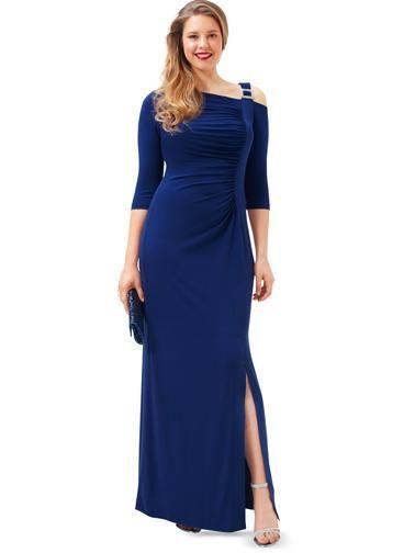 Сукня трикотажна з бретеллю на одне плече