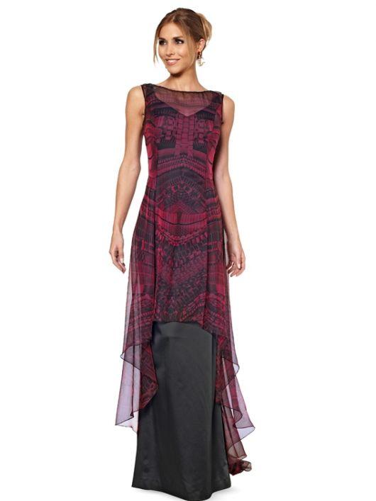 Сукня шифонова з асиметричним нижнім краєм