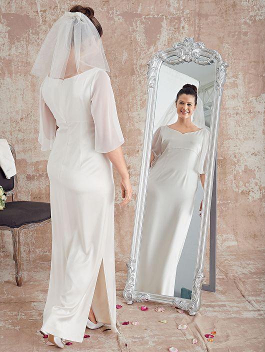 Сукня довга силуету ампір