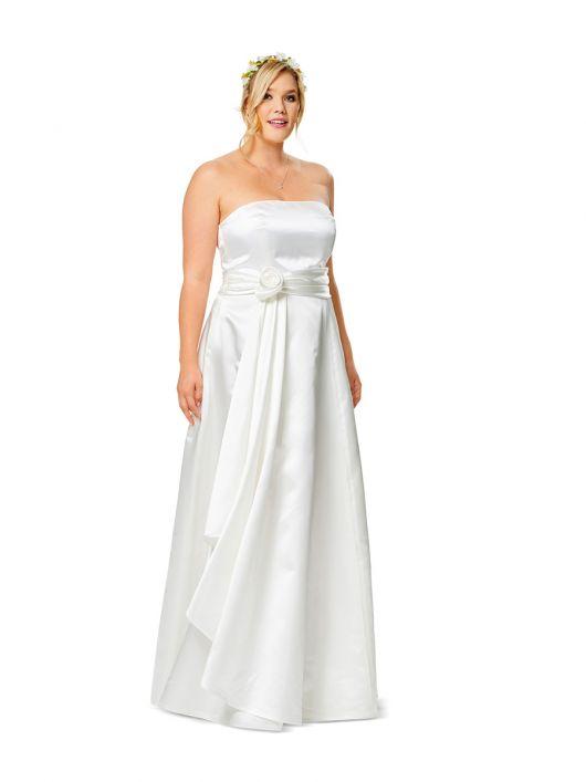Сукня-бюстьє весільна з пишною спідницею