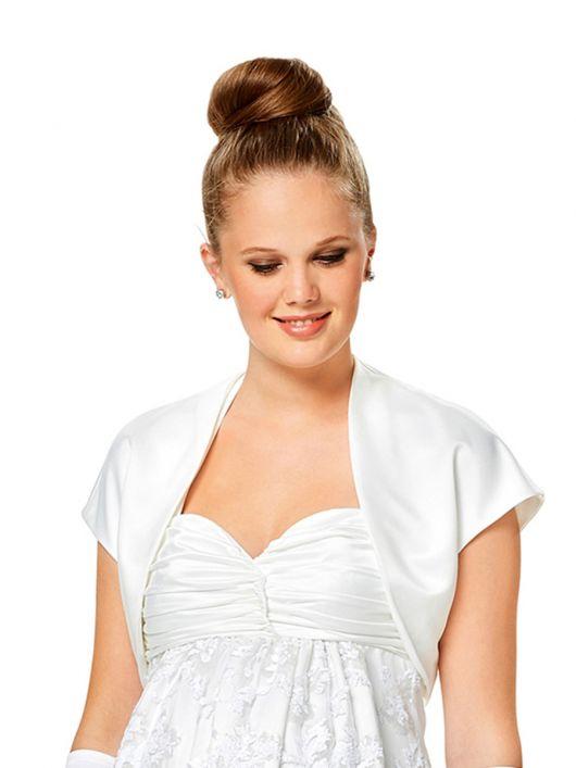Жакет-болеро атласний до весільної сукні