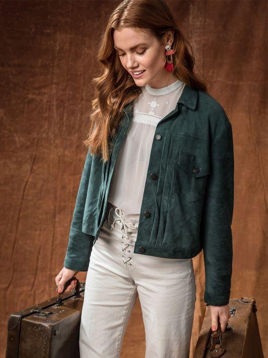 Куртка замшева у джинсовому стилі