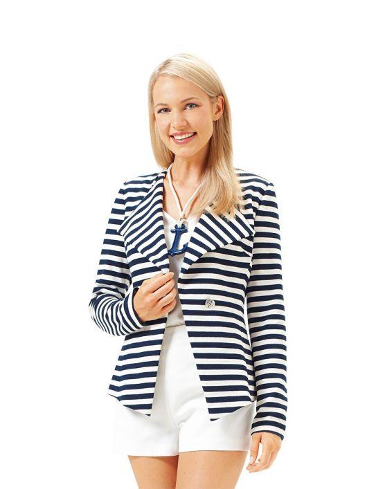 Жакет приталеного силуету в морському стилі