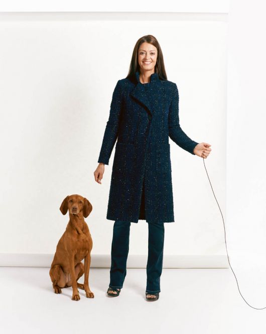 Пальто прямого силуету з коміром-стійкою