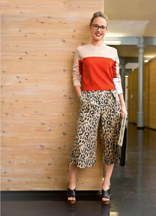 Спідниця-брюки зі складками на поясі