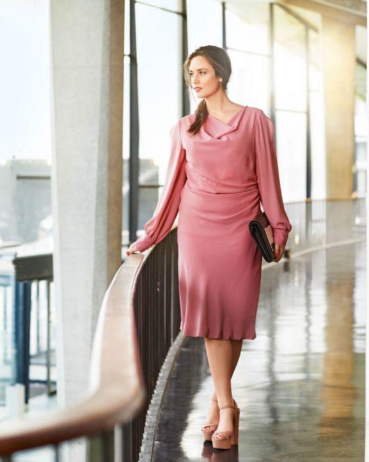 """Сукня з вирізом горловини """"водоспад"""""""