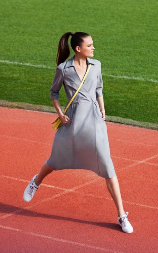 Сукня з рукавами реглан
