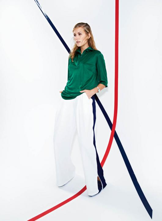 Широкі брюки на еластичному поясі