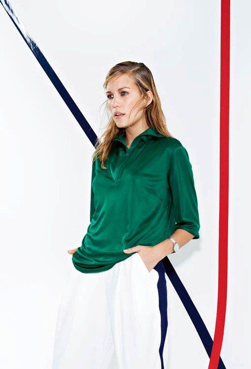 Блуза прямого крою із комірцем на блискавці