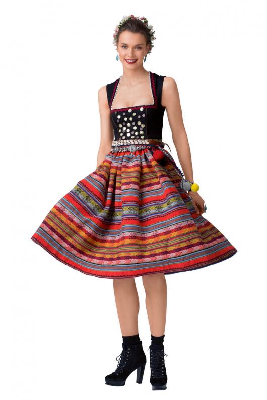 Сукня дірндль з декоративними монетками