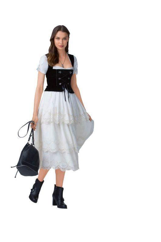 Сукня із триярусною спідницею