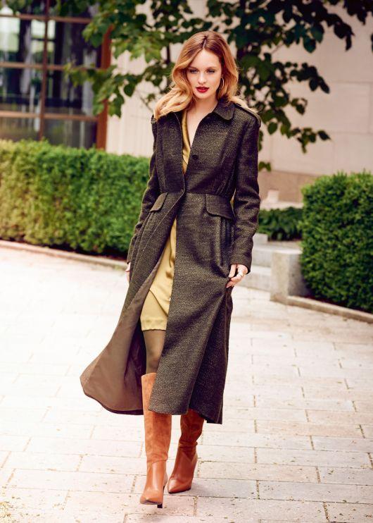 Пальто приталеного силуету